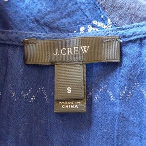 J. Crew Tops - J.Crew Indigo Blue Embroidery Stripe Oversized Top